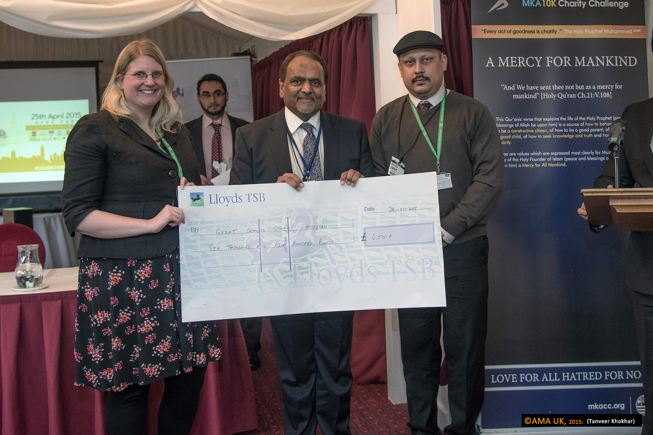 Cheque for the Great Ormond Street Hospital for £6,500<br /> <br /> MKA House of Lords-2341