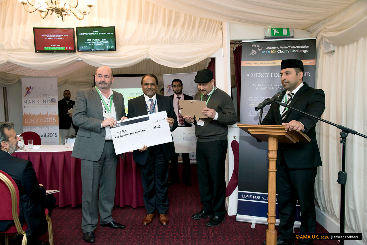 Cheque for the NSPCC (National Society for the Prevention of Cruelty to Children) for £1,500<br /> <br /> MKA House of Lords-2353