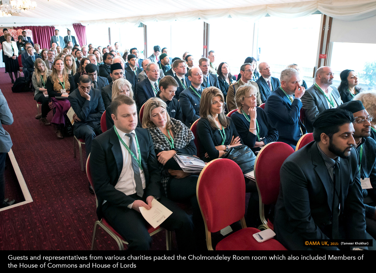 Guests and representatives from various charities packed the Cholmondeley Room room which also included Members of the House of Commons and House of Lords
