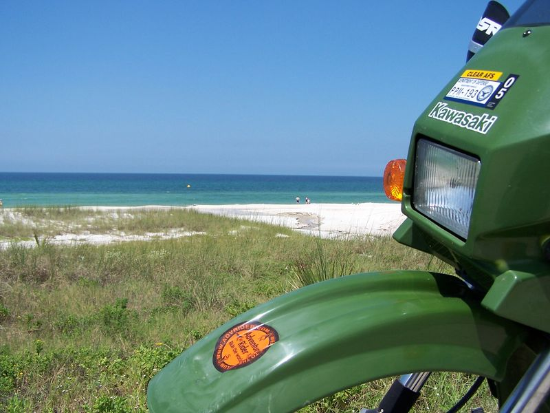 Yet another KLR/Travel Gnome photo op.