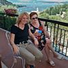Cristina e Cicci al balcone. On the balcony.