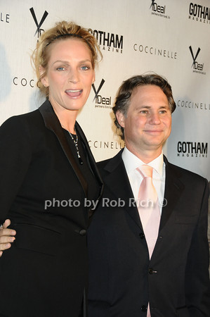 Uma Thurman, Jason Binn<br />  photo  by Rob Rich © 2009 robwayne1@aol.com 516-676-3939