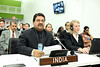 "Moinul Hassan Ahamed MP and Member of Indian Delegation speaking  at United Nation sixth committee on ""Measures to Eliminate International Terrorism"" on oct 3rd-2011...pic Mohammed Jaffer-snapsinda"