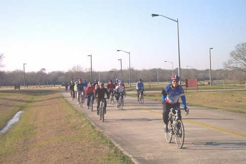 Team Fitness Solutions 1st training ride in Jan for 2004 MS150