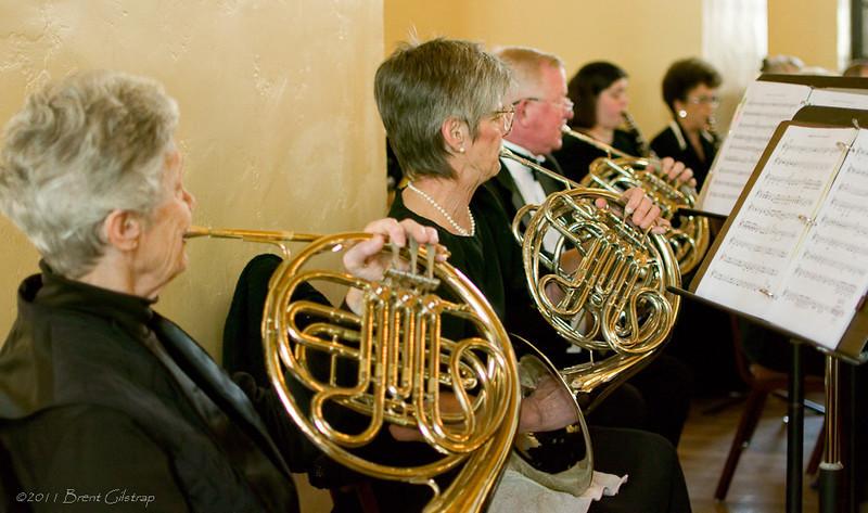 French Horns: Jill Rowney, Marian Folker, and Neil Stonum