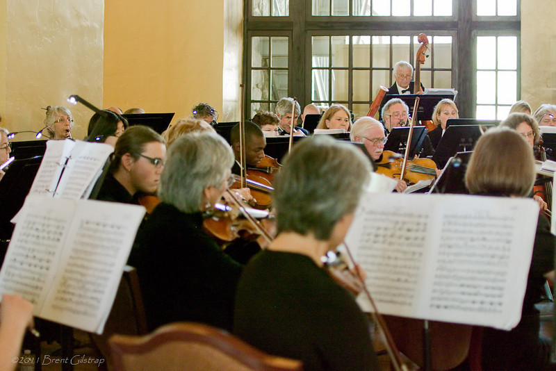 The Mariposa Symphony Orchestra performs in the Great Lounge of the historic Ahwahnee Hotel<br /> <br /> Ahwahnee Hotel<br /> Yosemite National Park<br /> 10 April 2011
