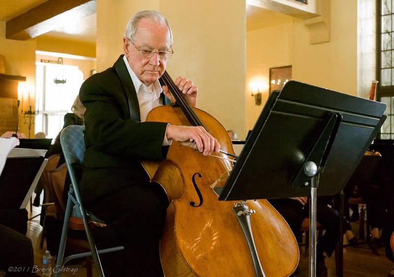 Cellist Ira Lehn<br /> <br /> Ahwahnee Hotel<br /> Yosemite National Park<br /> 10 April 2011