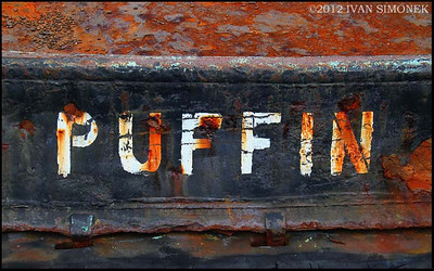 """PUFFIN"",rusty tugboat,Wrangell,Alaska,USA."