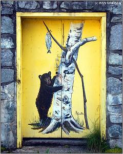 """""""DOOR ART"""", Stewart, B.C., Canada."""