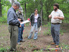 David Ruble of DEQ talks with participants about wetland soils