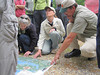 Participants checking out the map of the area.