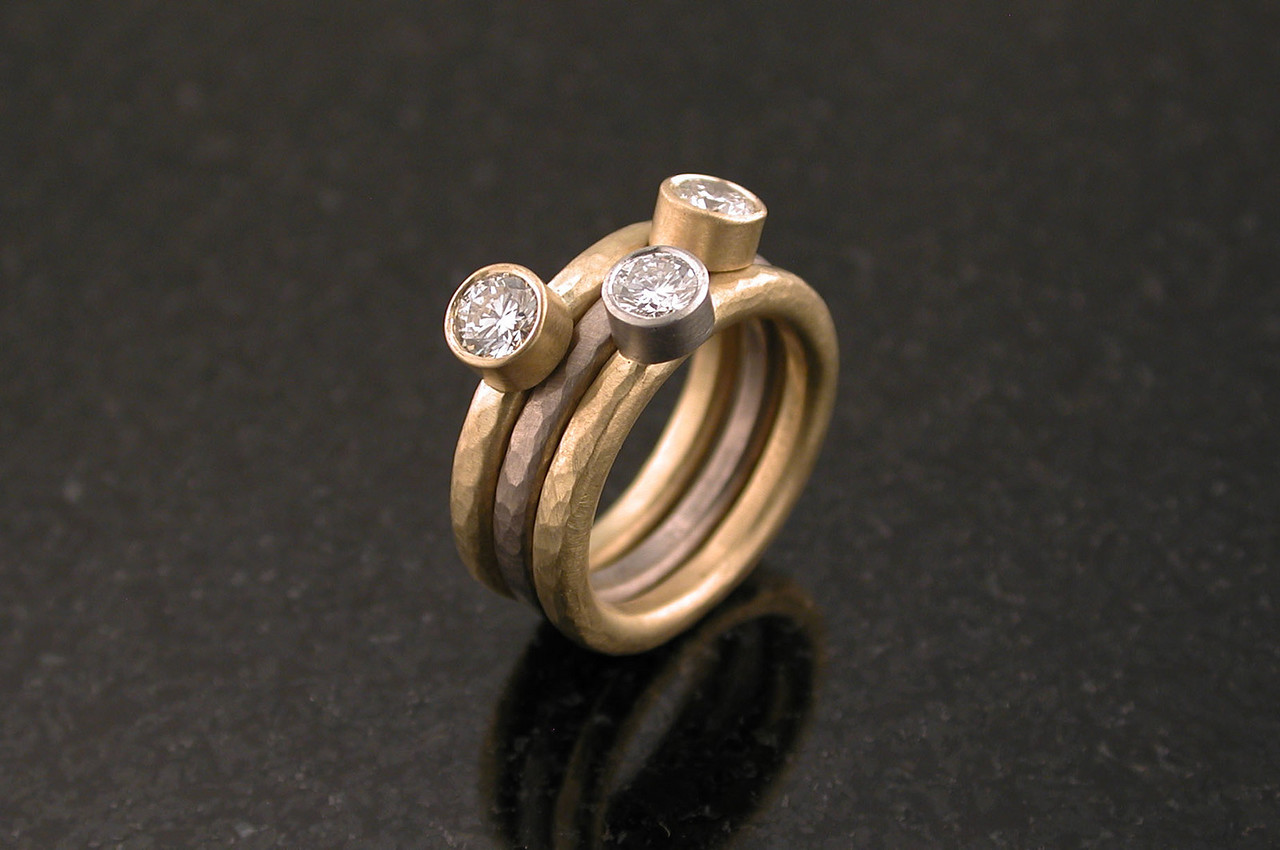 o336 molly's hammered rings