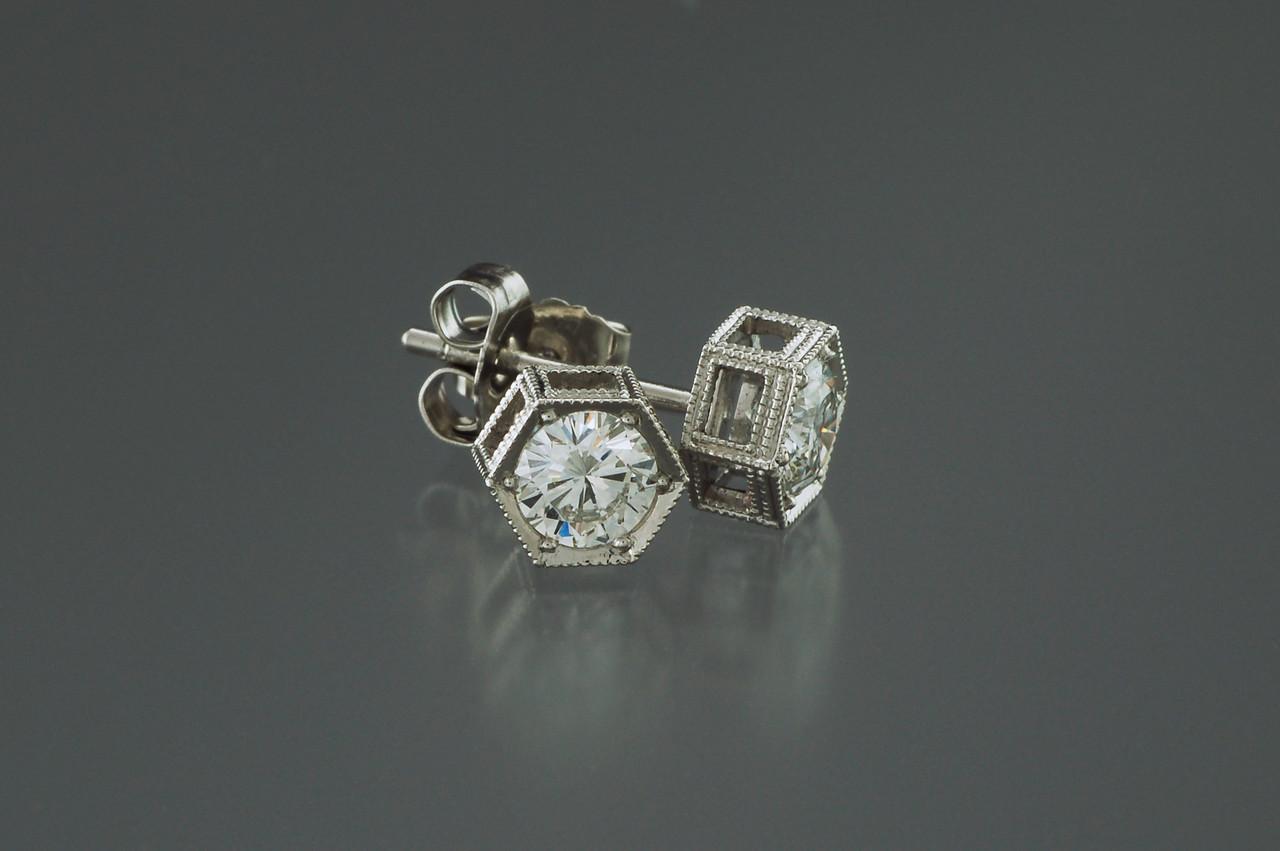 o625  pt hex earrings