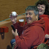 our neighbors at the game get a ball!!!!