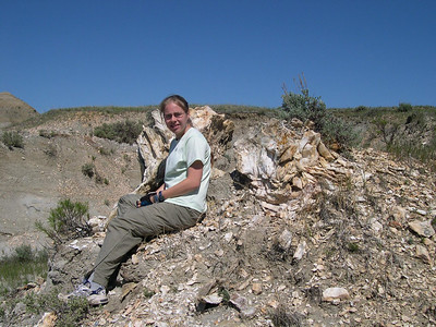 sitting on petrified wood: ouch!