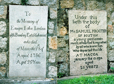 Macau, Old Protestant Cemetery 2 SM
