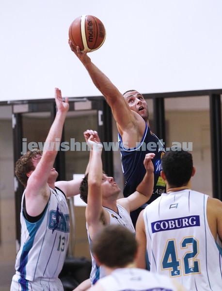 28-4-13. Basketball. Maccabi Warriors v Coburg at Bialik College. Dean Rzechta. Photo: Peter Haskin