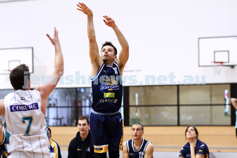 28-4-13. Basketball. Maccabi Warriors v Coburg at Bialik College.  Jeff Devers. Photo: Peter Haskin
