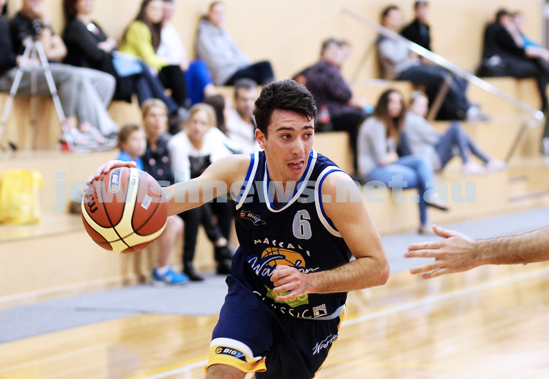28-4-13. Basketball. Maccabi Warriors v Coburg at Bialik College. Gavin Katz.  Photo: Peter Haskin