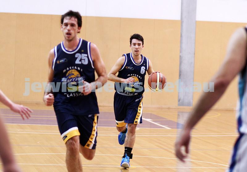 28-4-13. Basketball. Maccabi Warriors v Coburg at Bialik College. Gavin Katz.  Photo: Peter Haskin