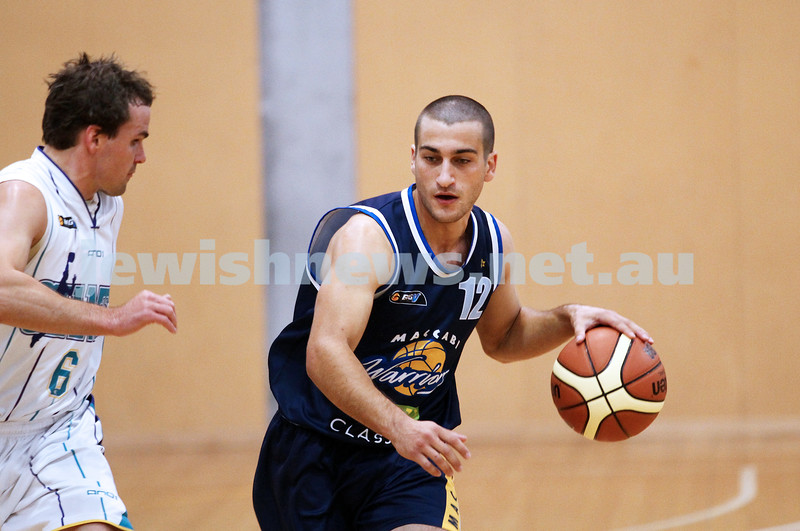 28-4-13. Basketball. Maccabi Warriors v Coburg at Bialik College. Adam Kias. Photo: Peter Haskin