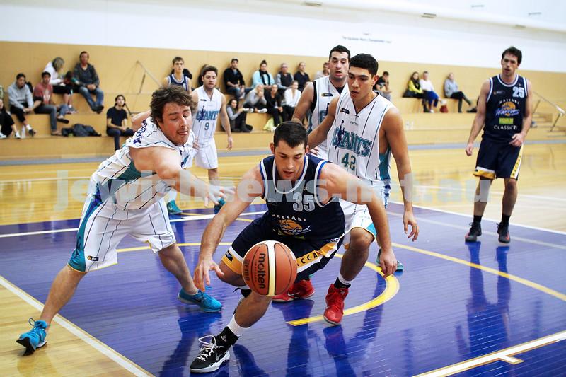 28-4-13. Basketball. Maccabi Warriors v Coburg at Bialik College. Daniel Drehspul. Photo: Peter Haskin