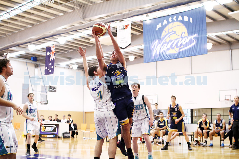 28-4-13. Basketball. Maccabi Warriors v Coburg at Bialik College.  Adam Laitt. Photo: Peter Haskin