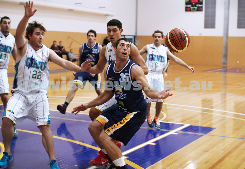 28-4-13. Basketball. Maccabi Warriors v Coburg at Bialik College. Daniel Drehspul. Photo: Peter Haskin