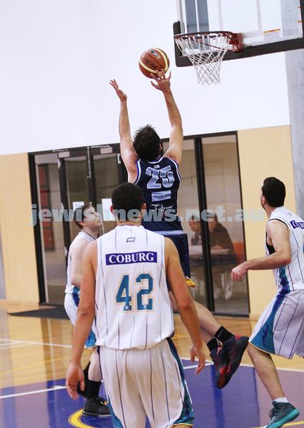 28-4-13. Basketball. Maccabi Warriors v Coburg at Bialik College.  Adam Laitt. Photo: Peter Haskin
