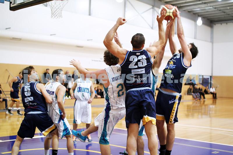28-4-13. Basketball. Maccabi Warriors v Coburg at Bialik College.  Photo: Peter Haskin
