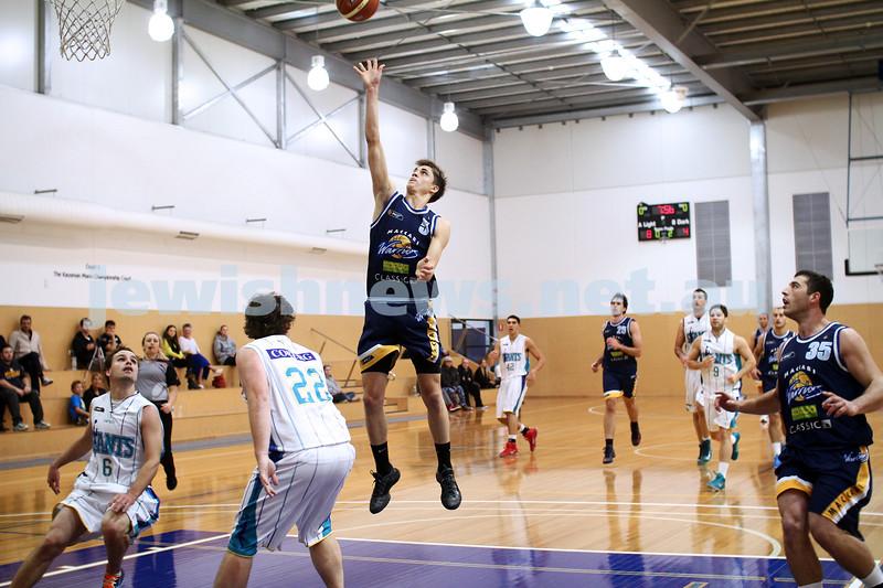 28-4-13. Basketball. Maccabi Warriors v Coburg at Bialik College.  Benji Tamir. Photo: Peter Haskin