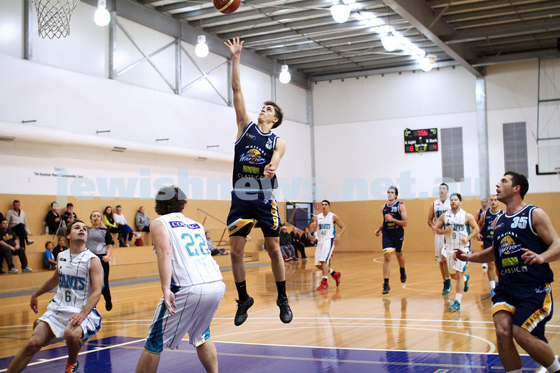 28-4-13. Basketball. Maccabi Warriors v Coburg at Bialik College.  Benji Tamir. Photo: Peter Haskin