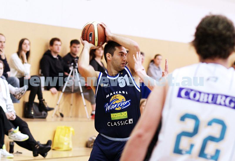 28-4-13. Basketball. Maccabi Warriors v Coburg at Bialik College.  Josh Burns. Photo: Peter Haskin