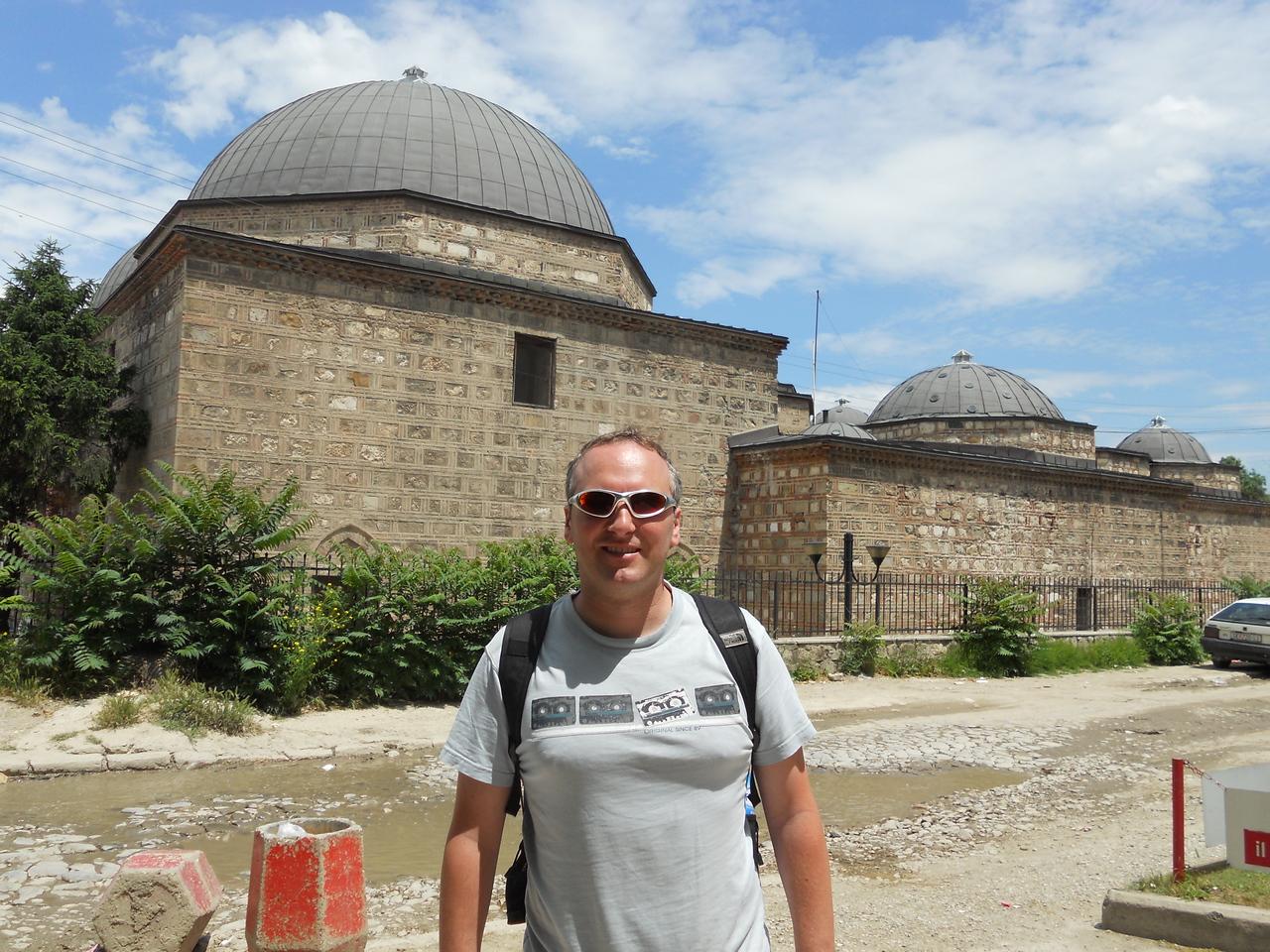 Old Hammam (Ottoman baths) in the old Turkish quarter, now an art gallery.