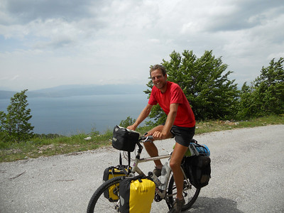 On a trip up to the top of a mountain on the lake we pass Oliver, who had been staying in the hostel with us. He's cycling from Brussels to Jerusalem!...