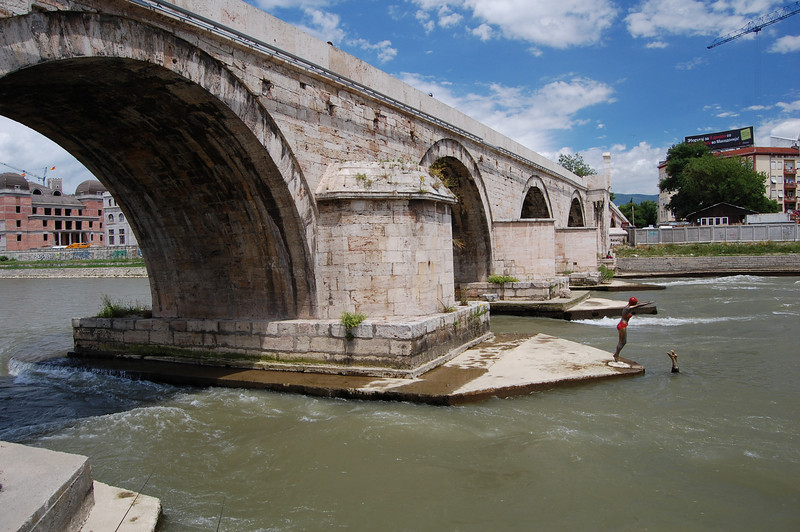 Cool old bridge from the 14th century. Spot more cool statues!