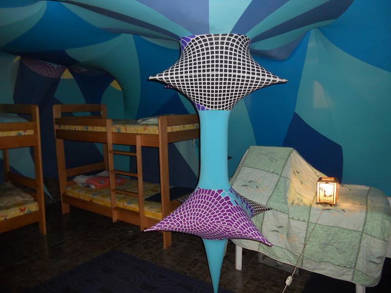 The 'Art Hostel' in Skopje - a bit funky.