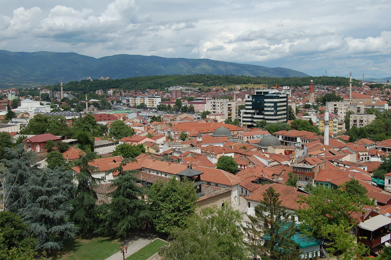Skopje from the fortress. This is the 'pretty' side!