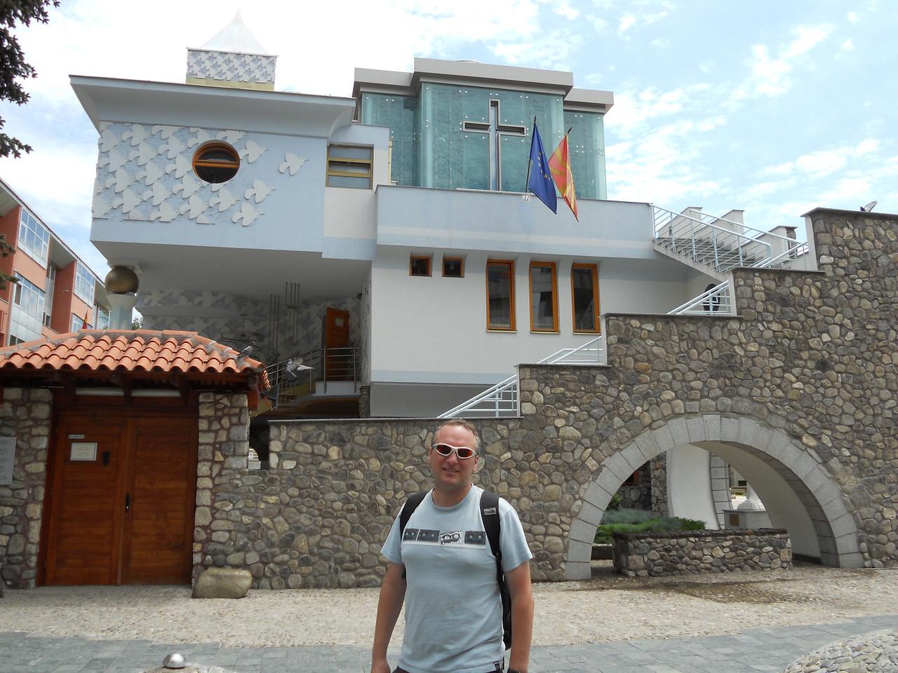 The very modern Mother Teresa church - she was born in Skopje.