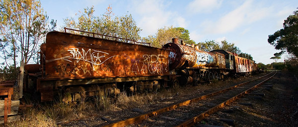 Old abandoned Train - Drysdale - Victoria - Australia