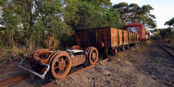 Abandoned Train - Drysdale - Victoria - Australia - 2007