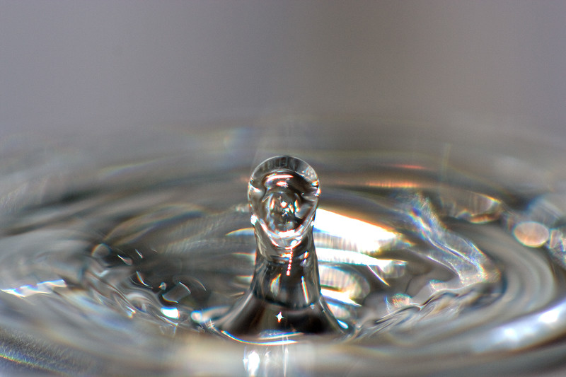 A water drop shot