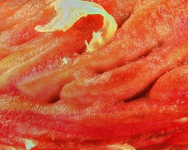 Peach pitt close-up