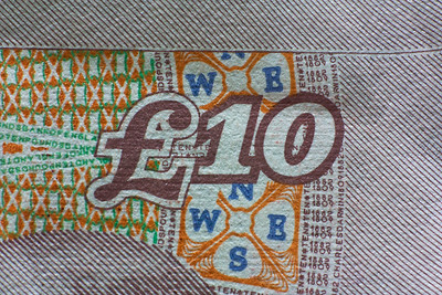 Ten pound note detail