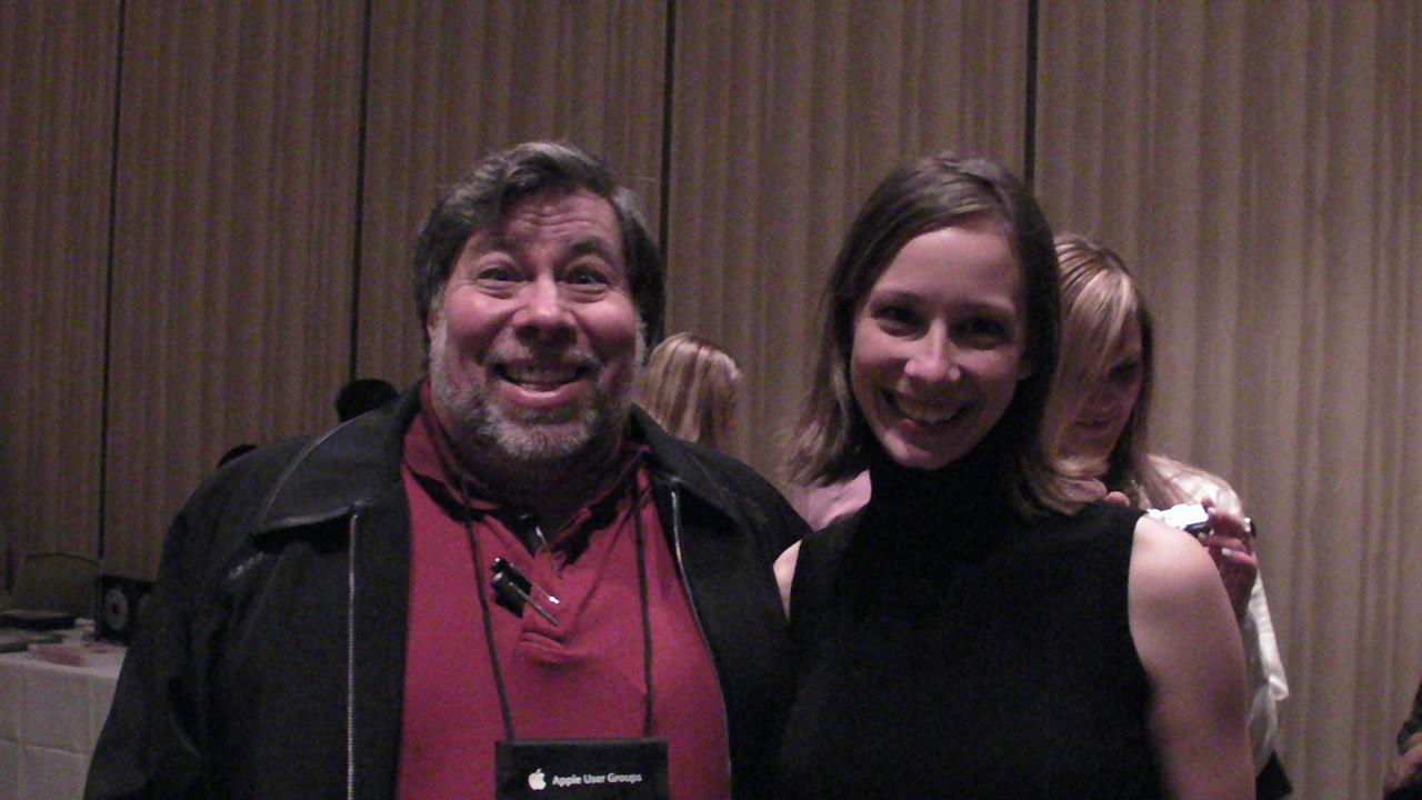 Woz and Cali  Not a great photo, but it's me with Woz!