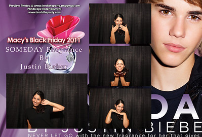 Macy's Downey Black Friday 2011- Justin Bieber Promo - Photo Booth Pictures