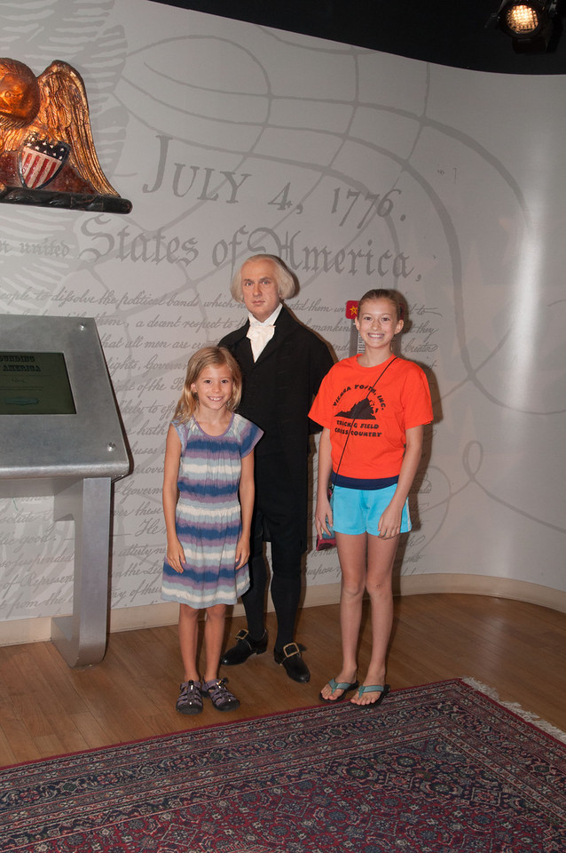 I think this was James Madison, who is the shortest US President according to wikipedia.