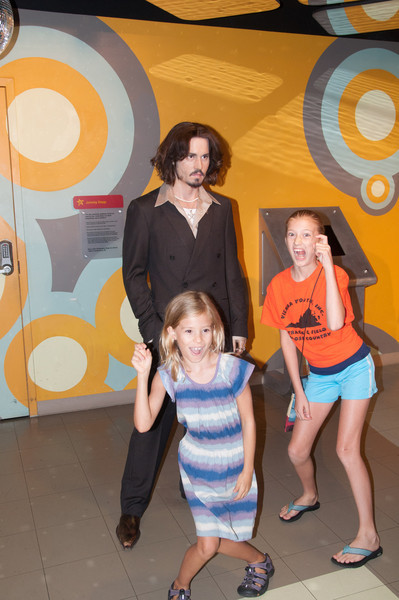 Johnny Depp.  Neither girl knew who he was.