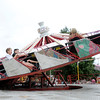Fairgoers spin around on the Casino, a ride reminiscent of a roulette wheel, during the 4-H Fair on Wednesday.