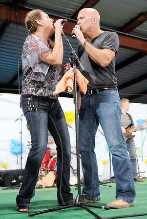 Cook and Belle perform during the 4-H Fair on Thursday.
